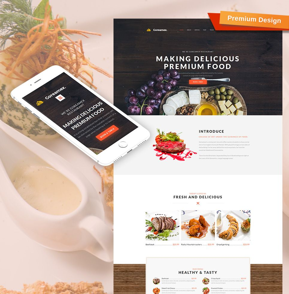 Catering Website Template For European Restaurant Motocms Website Template Website Layout Inspiration Food Website