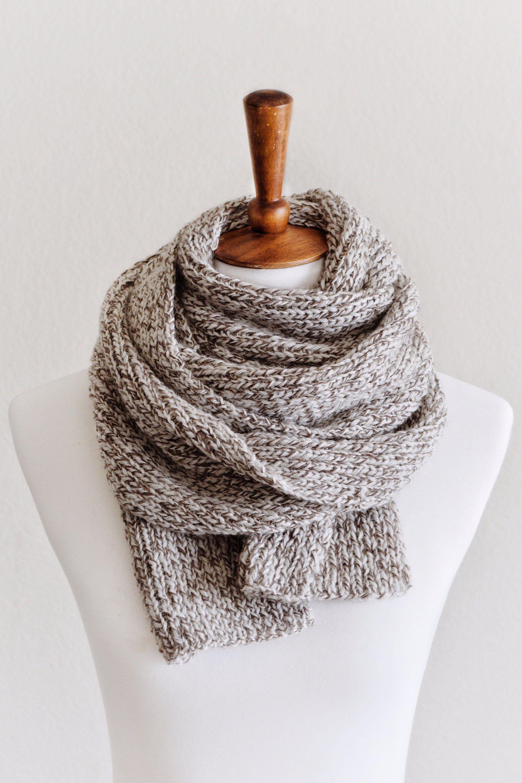 Photo of KNITTING PATTERN ⨯ Classic Scarf, Women Scarf Knitting Pattern⨯ Beginner Knitting Pattern Scarf, Classic Rib Scarf Knitting Pattern