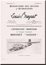 Breguet Saigon  Aircraft Technical Brochure  Manual ( French Language )