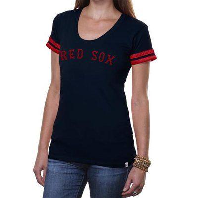 '47 Brand Boston Red Sox Women's Showtime T-Shirt - Navy Blue
