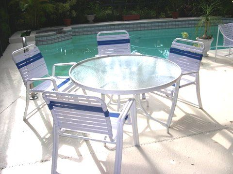 Vinyl Strap Patio Furniture