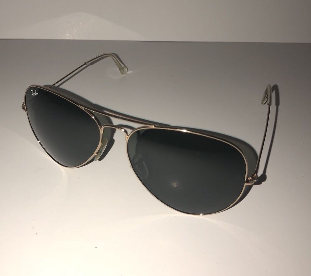 0509277666194 Ray Ban RB3026 Large Metal Aviator II Gold Sunglasses L2846 62 14 Italy H   fashion