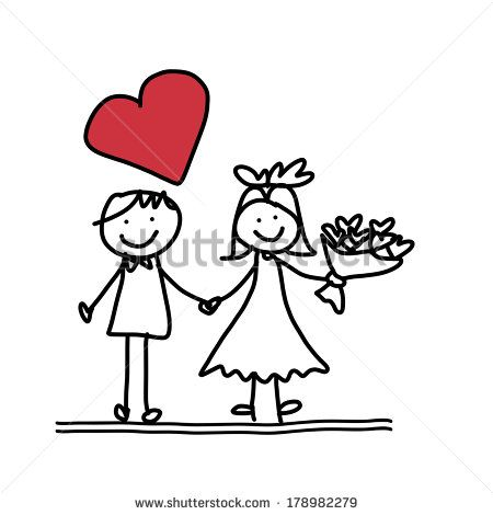 9caf3482c7 Cartoon Wedding Couple Stock Photos, Images, & Pictures | Shutterstock