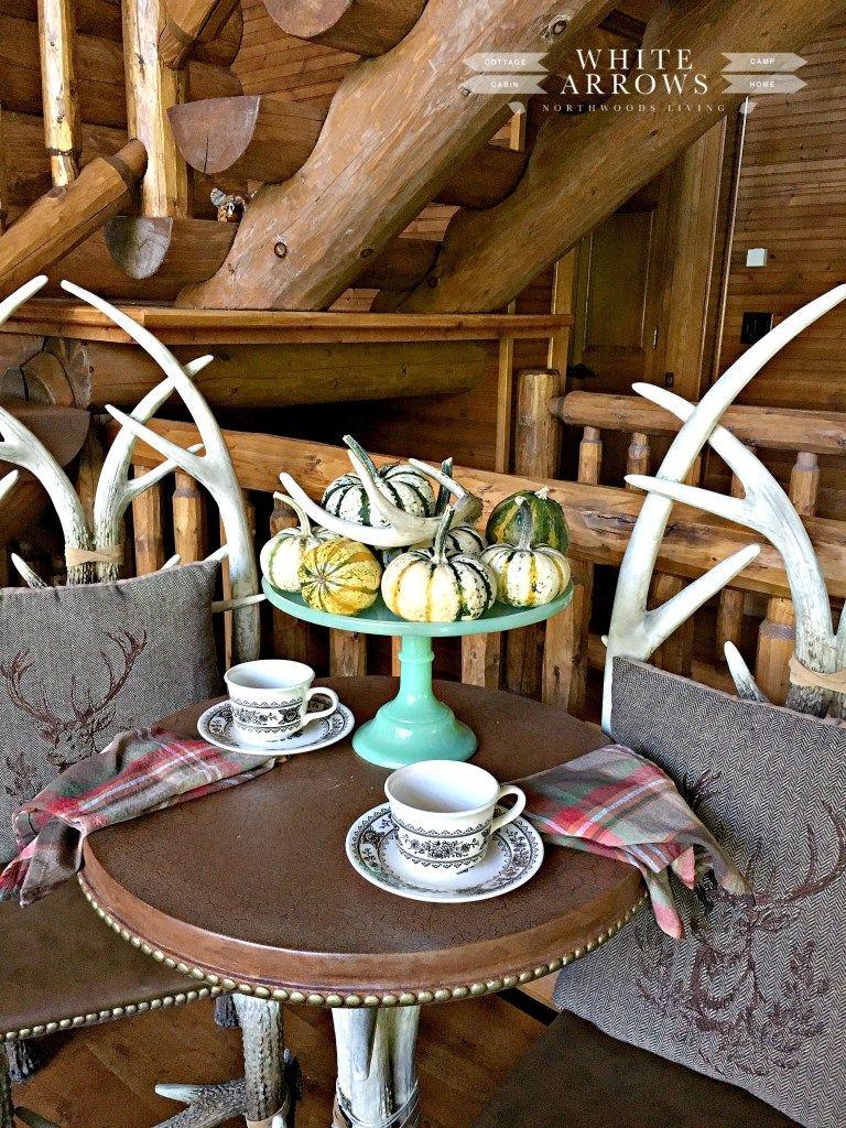 antler table, antler decor, fall decor