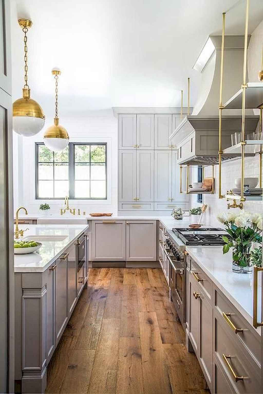 75 Farmhouse Gray Kitchen Cabinet Design Ideas #graykitchencabinets