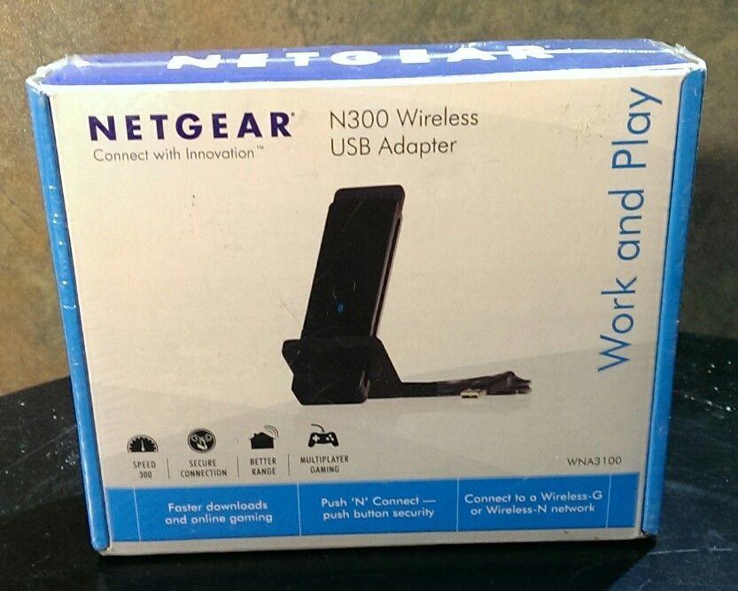 NEW NETGEAR Wireless N-300 USB Adapter - WNA3100 Wifi Internet