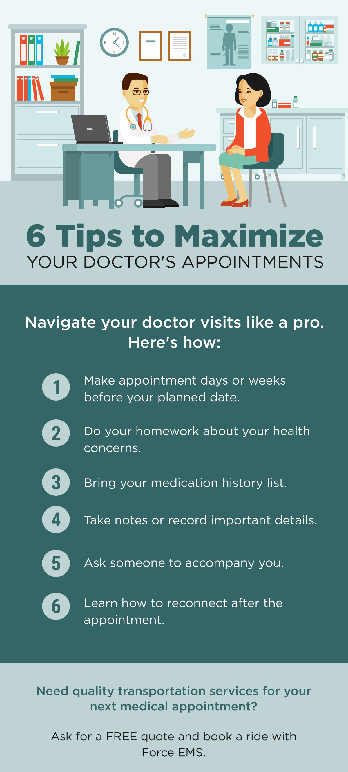 6 Tips to Maximize Your Doctor's Appointments ForceEMS