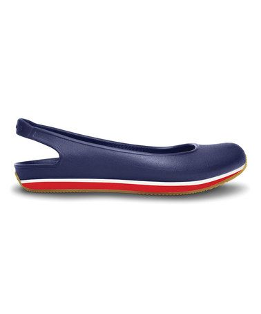 ef2775f4762 Nautical Navy   Red Crocs Retro Slingback Flat - Women by Crocs  zulily   zulilyfinds