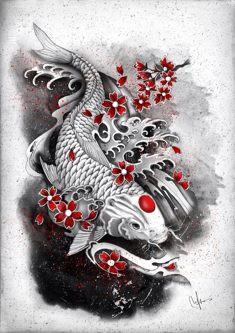 Koi Fish Japanese Symbol Koi Tattoo Design Japanese Tattoo