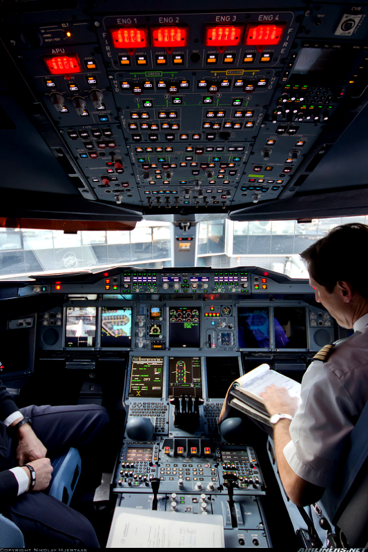 Aviation Aircraft Interiors Airbus A380 Cockpit Aviation