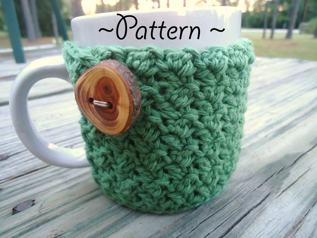 Crochet Textured Coffee Mug Cozy Pattern Freebie | Maestros ...