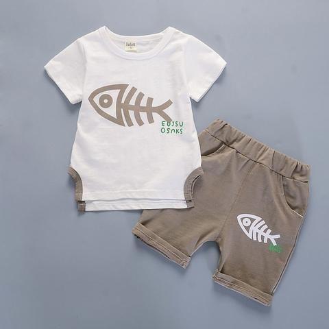 616935fe03da BibiCola baby boys summer clothing sets 2PCS sport suit cartoon tops+pants  fashion clothes tracksuit toddler boys summer clothes