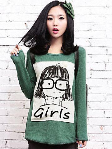 girl wool blended sweater $35 #asianicandy #spring #asianfashion #koreanfashion #japanese #kawaii