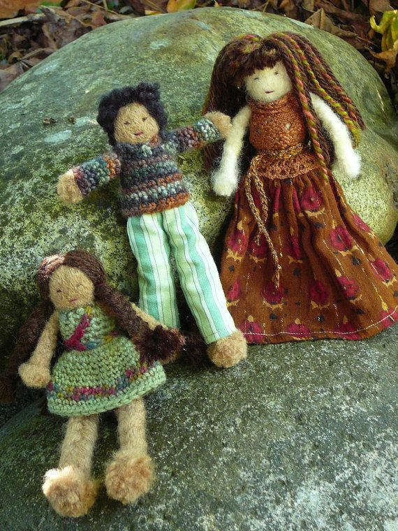 Perfect Wool Dolls for little hands! The detail and the sweetness is amazing.
