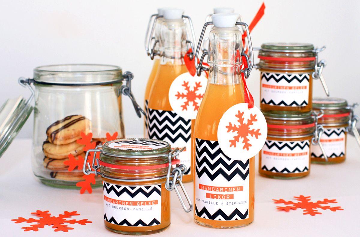 Rezept Gelee, Likör und Plätzchen mit Mandarine ...