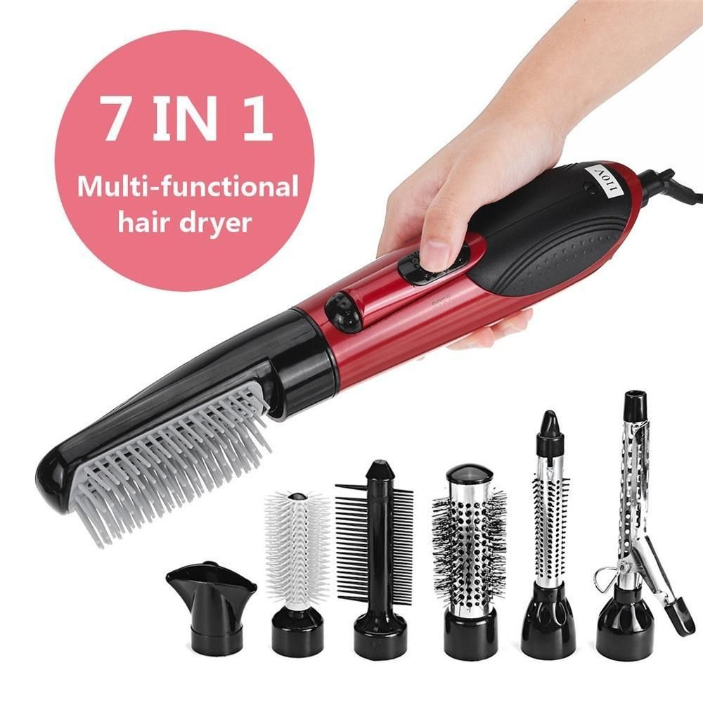 One Step 2 In 1 Ceramic Rotating Curling Iron Brush Buy 1 Get 1 Brush Free Hair Ideas In 2019 Curling Iron Hair Dryer Straightener Rotating Curling Iron