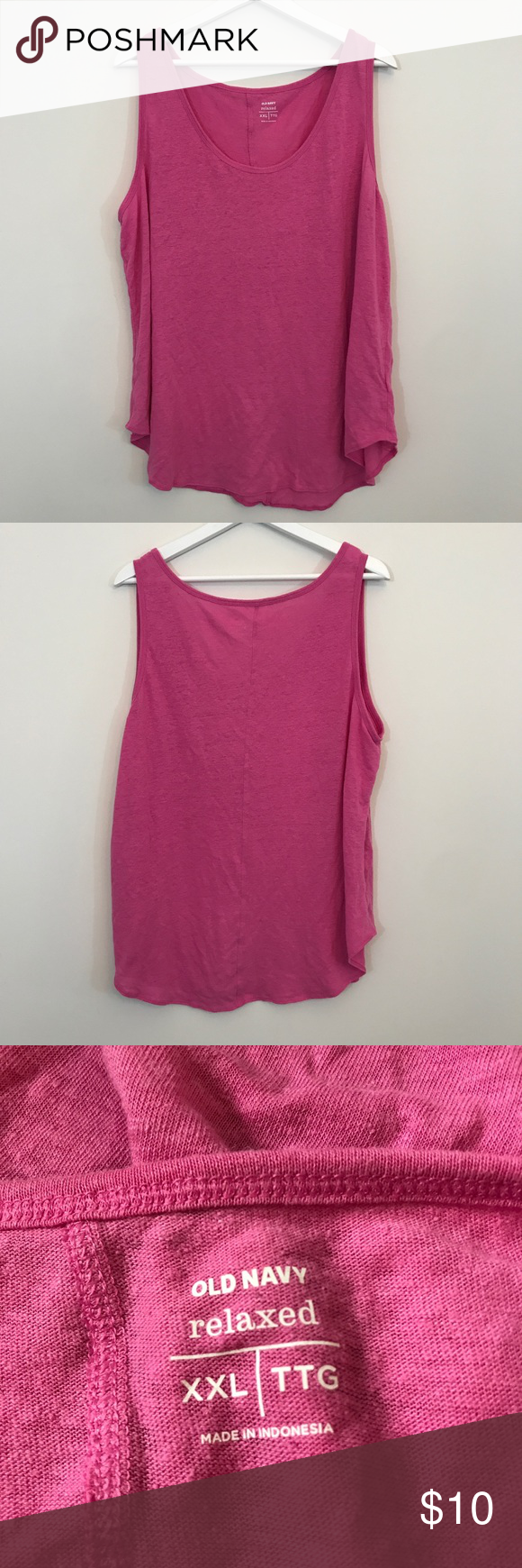 Pink Tank Top | Navy pink, Navy tops and Navy