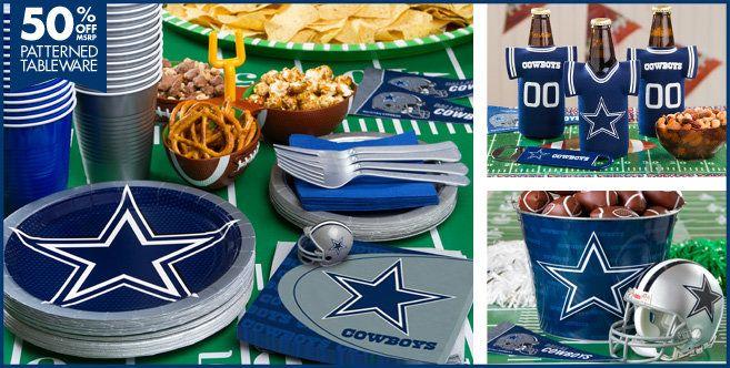 Nfl Dallas Cowboys Party Supplies Party City Football Party Dallas Cowboys Party Cowboy Party Dallas Cowboys Decor