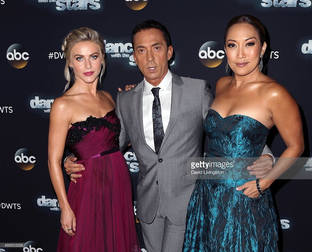 Dwts Judges Julianne Hough Bruno Tonioli And Carrie Ann Inaba