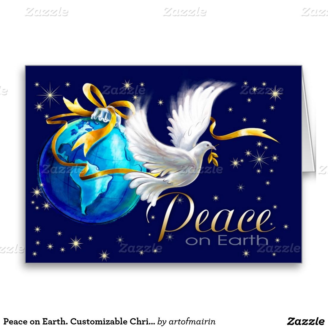 peace on earth merry christmas and a happy new year customizable christmas and