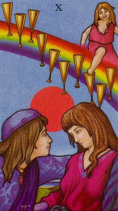 Ten Of Cups Connolly Tarot Cups Tarot Tarot Decks Tarot