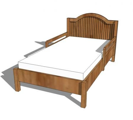 Traditional Wood Toddler Bed | Diy toddler bed, Toddler ...