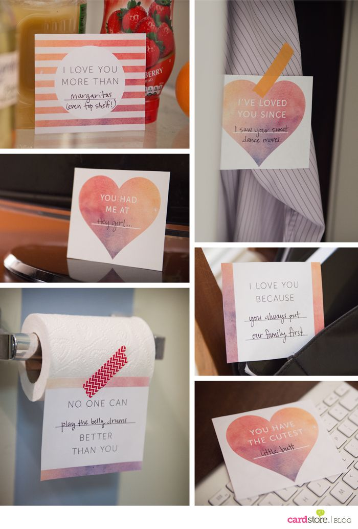 6 Printable Love Notes Get Creative Surprise Your