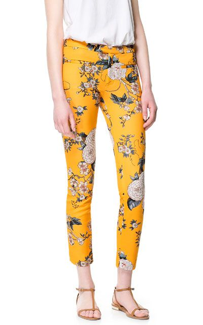 500ecc45 THESE PANTS! FLORAL PRINT TROUSERS from Zara | Florals | Fashion ...