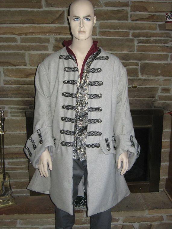 Custom Made Brocade masquerade renaissance medieval pirate tudor poet vest waistcoat Captain Jack Sparrow costume 5v3qn