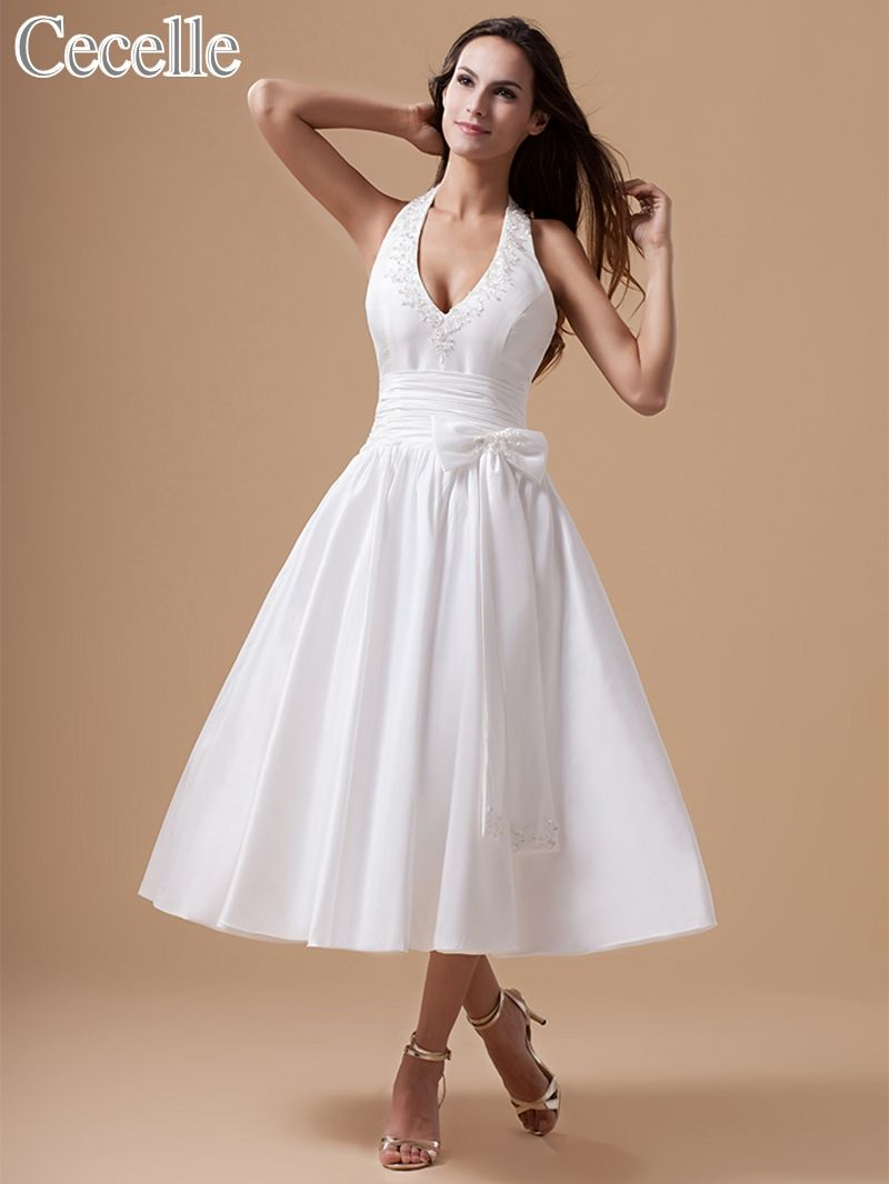 Click to buy ucuc s vintage tea length short wedding dresses with