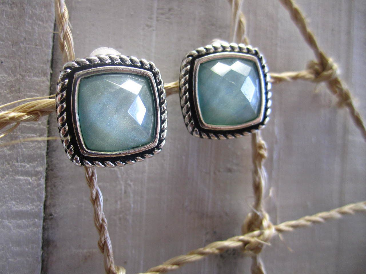 2ae0b8f93 The Coastal Cottage Shop - Periwinkle® by Barlow Aqua Stone Clip Earring