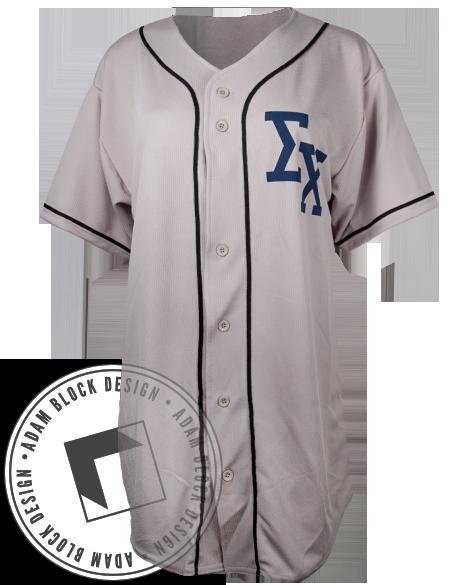 Sigma Chi Baseball Jersey Adam Block Sweatshirts Style E Greek