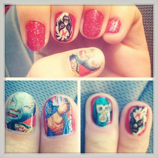 Lucha libre nail art