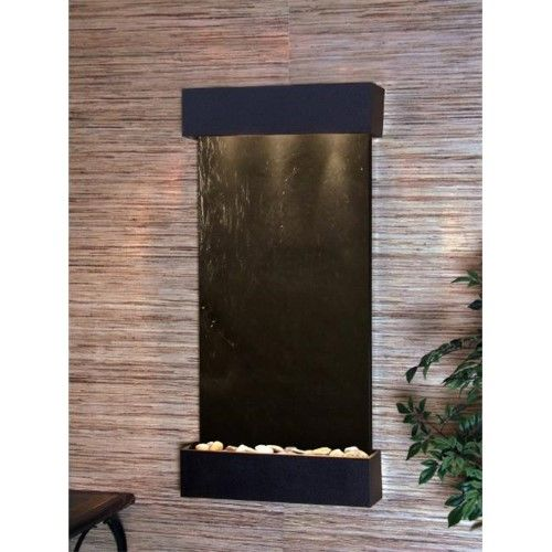 Adagio Wc 1711 Whispering Creek Wall Fountain Black Featherstone Tabletop Fountain Tabletop Water Fountain Indoor Wall Fountains