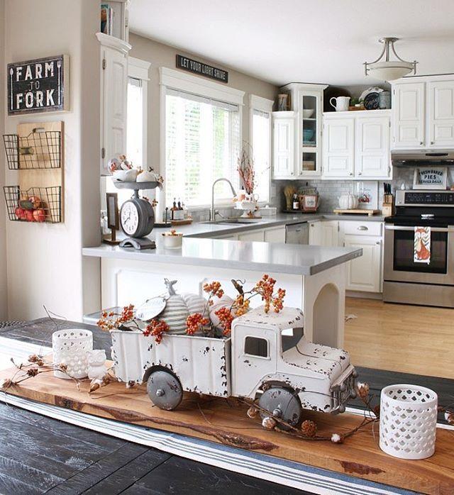 Farmhouse Falldecor Ideas: Fall Kitchen Decor, Kitchen