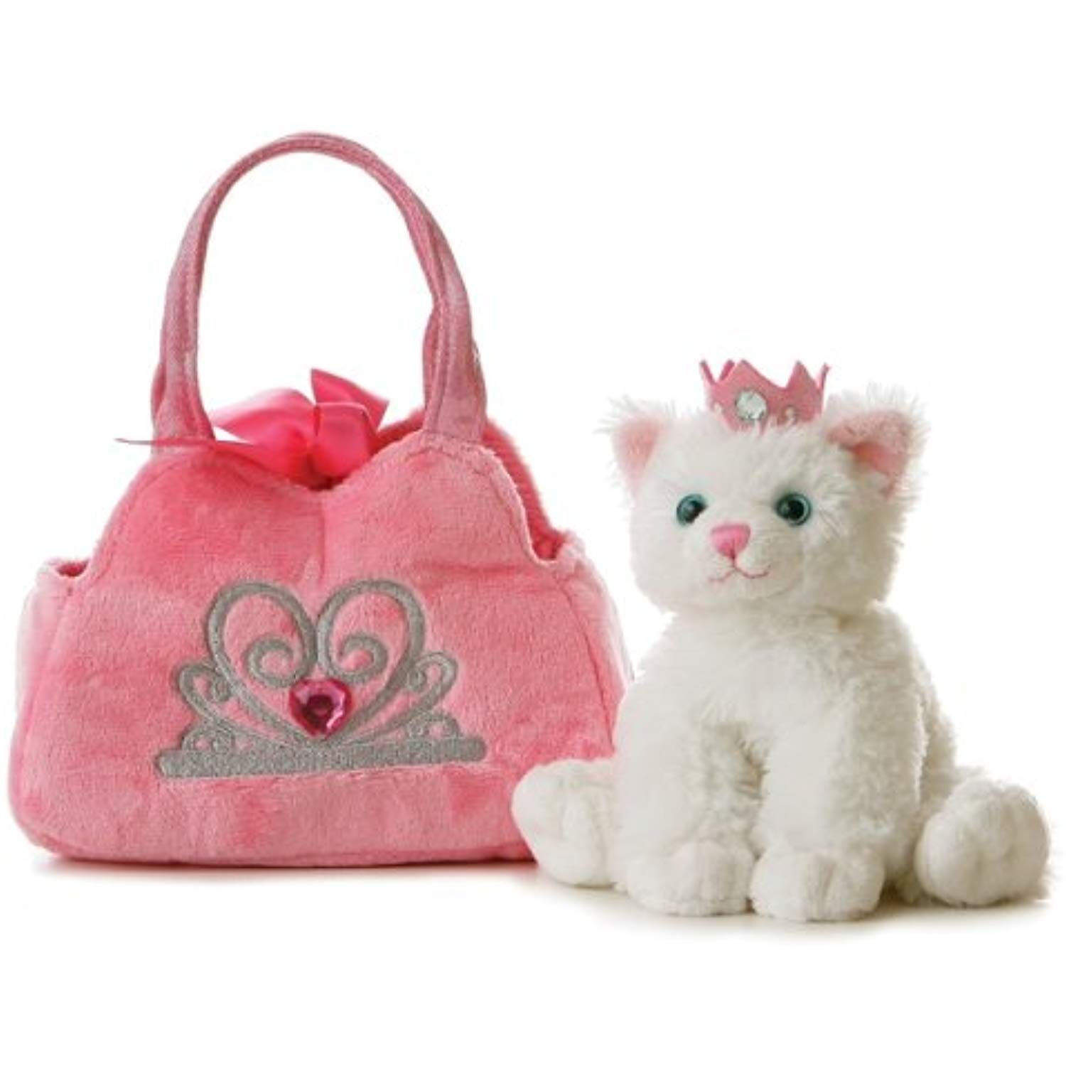 Aurora World Fancy Pals Plush Princess Kitten Purse Pet Carrier You Can Find More Details By Visiti Girl Stuffed Animals Pet Carrier Purse Animal Plush Toys