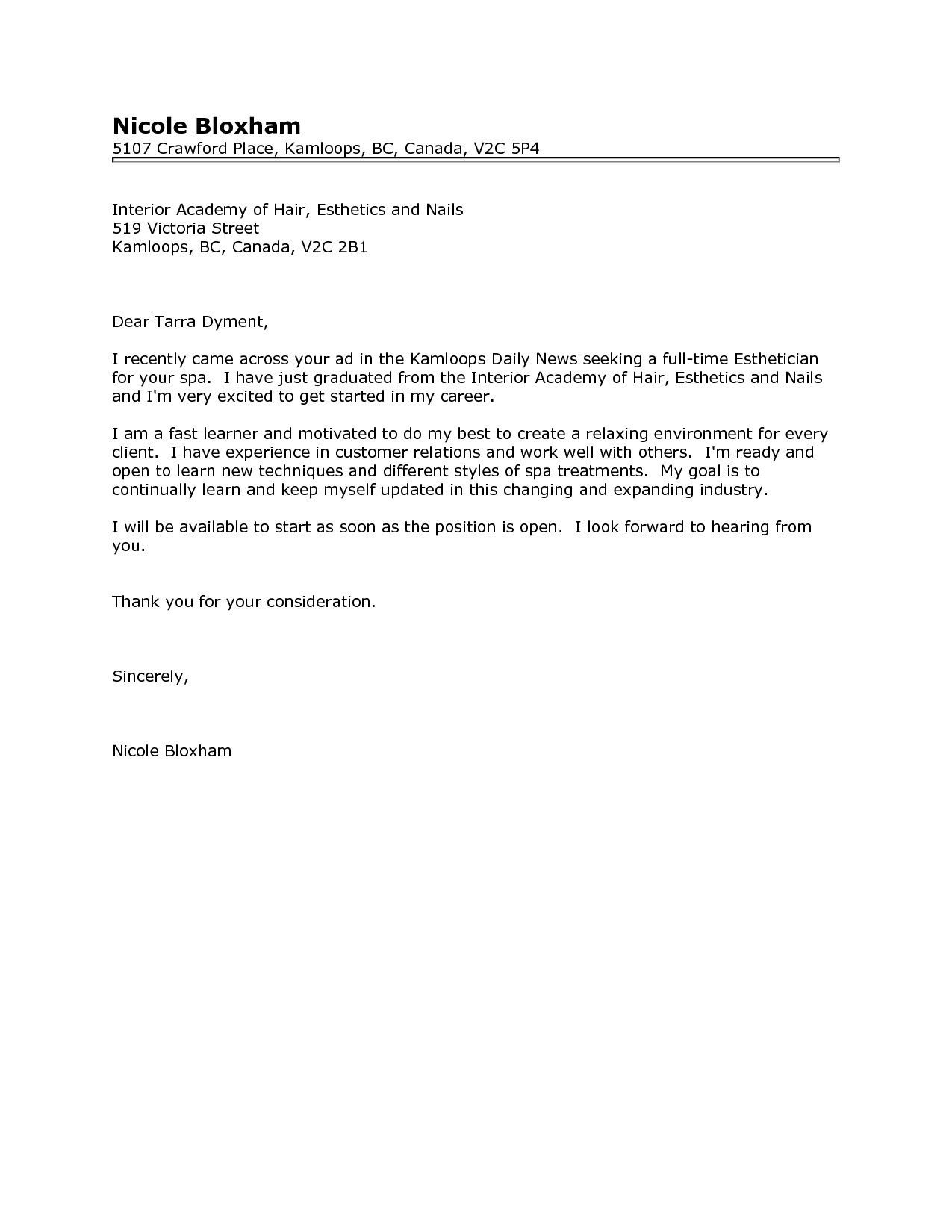 Pin by News PB on Resume Templates | Esthetician resume ...