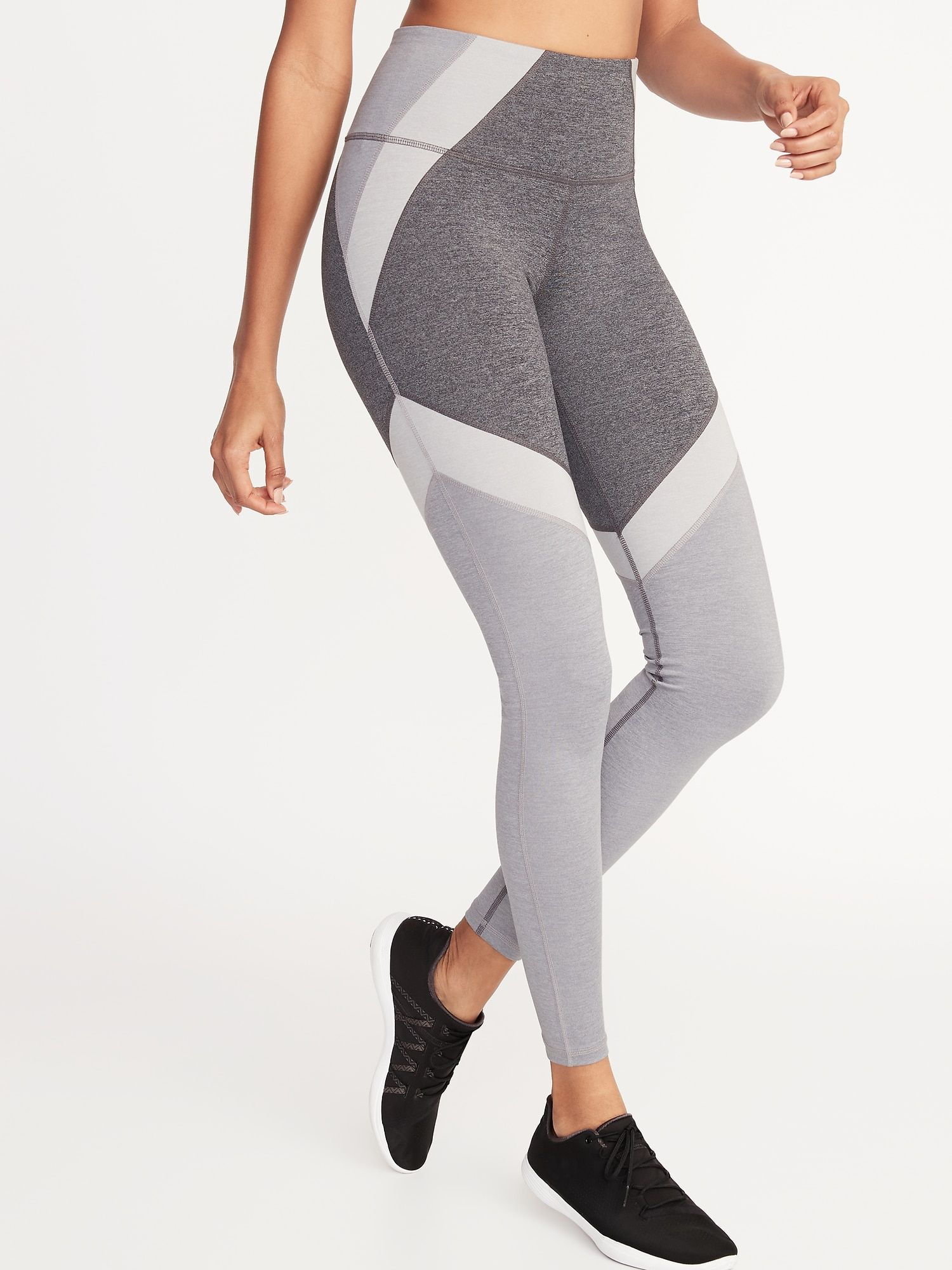 42d49066870c9 High-Rise Elevate Color-Block Compression Leggings for Women in 2019 ...