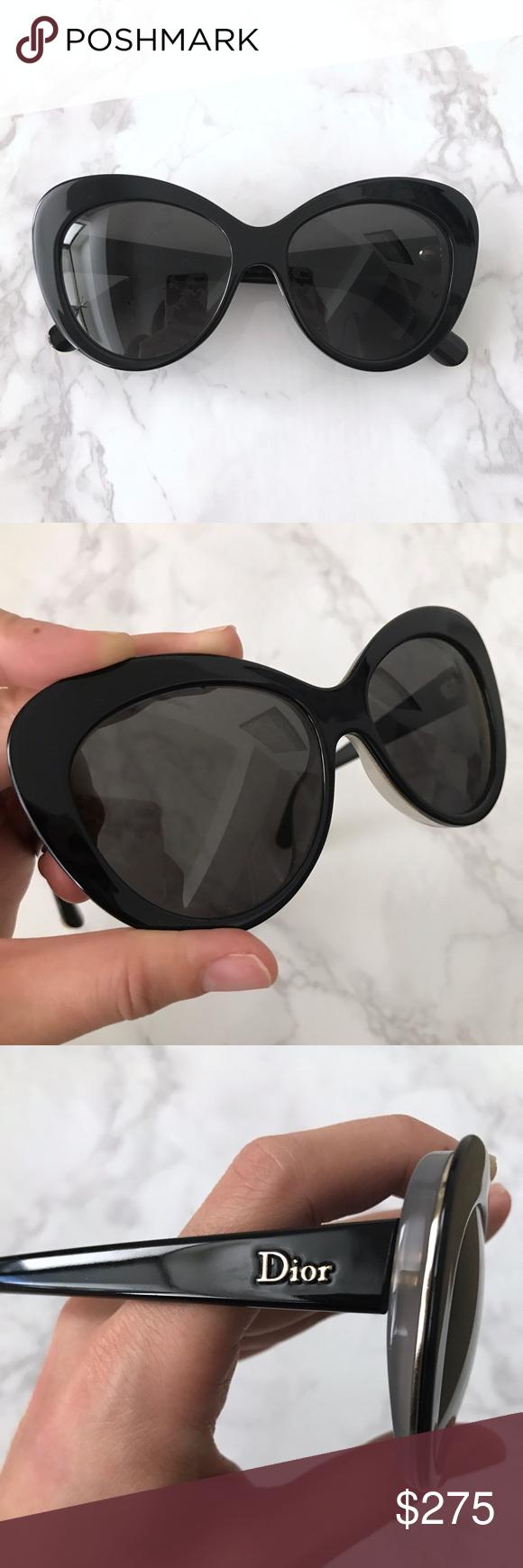 ea6417c1df4c Dior Cateye Sunglasses Gently used Dior Promessel Cateye sunglasses. Darkest  navy (pretty much black