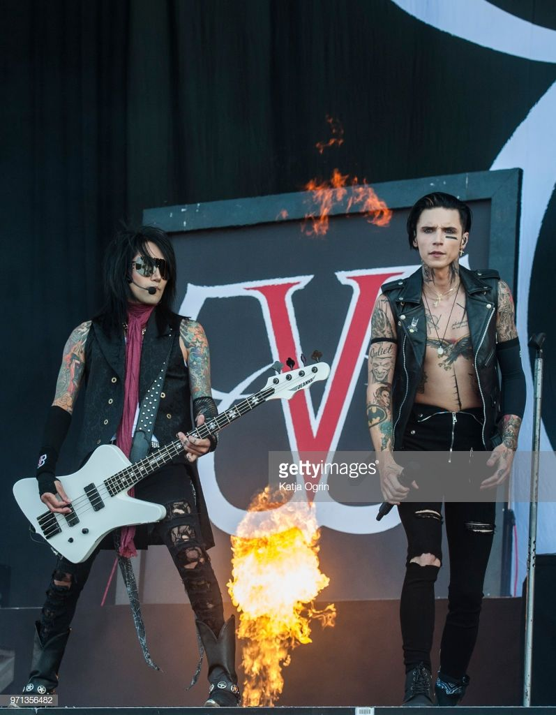 Download Festival 2018 Photos And Premium High Res Pictures Black Veil Brides Ashley Purdy Andy Black