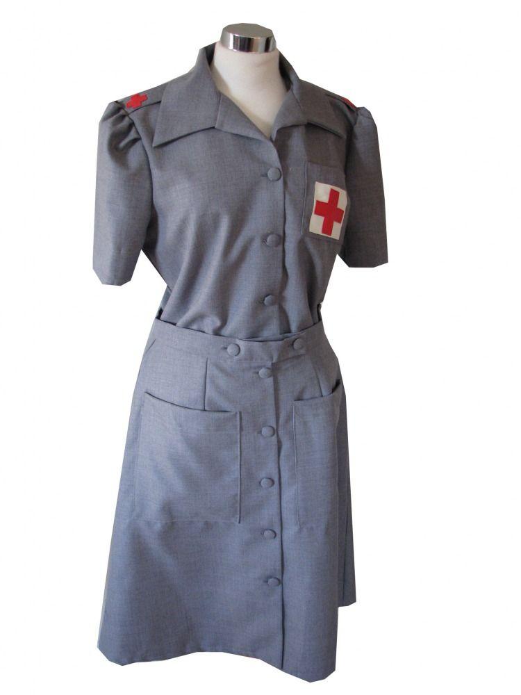 Ladies 1940s Wartime G I Nurse Costume Image  sc 1 st  Pinterest & Ladies 1940s Wartime G I Nurse Costume Image   Halloween   Pinterest ...