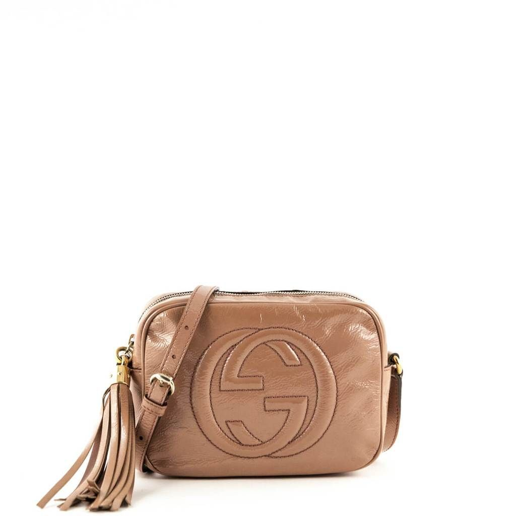 b0f0a83ff21 Gucci Beige Patent Soho Disco - LOVE that BAG - Preowned Authentic Designer  Handbags
