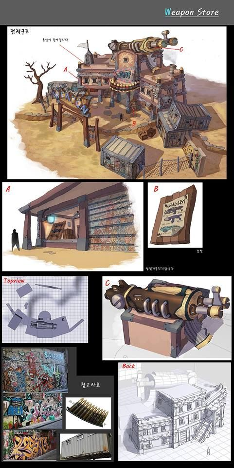 Ko Ilsu - Weapon Store concept