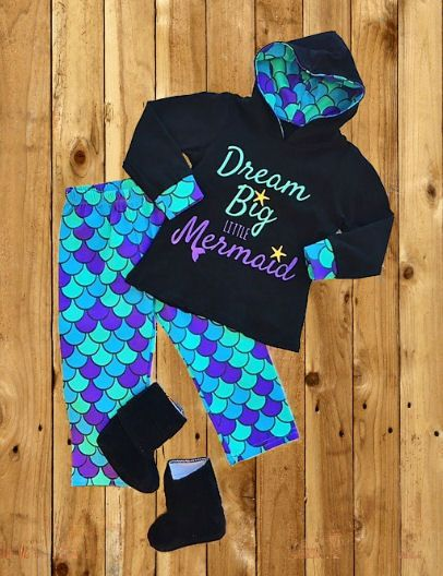 Dream Big Little Mermaid Hooded set