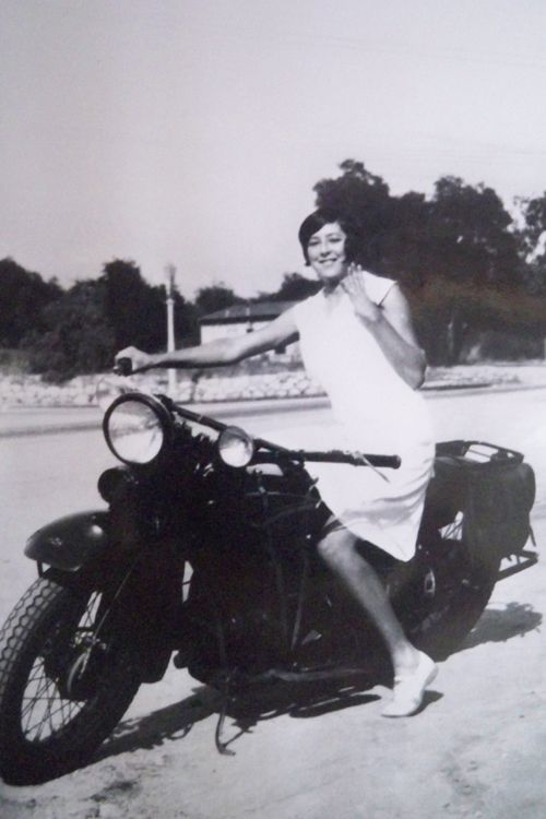 A girl and a motorcycle, 1930's. Cool Girls on Motorcycles, Vintage Photo Contest « The Sartorialist