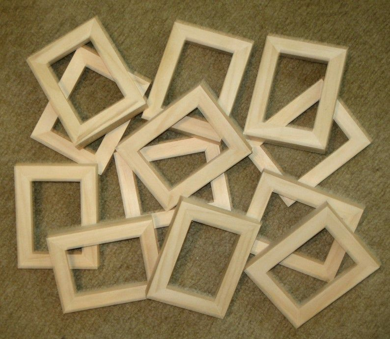 Aceo Picture Frames 12 Unfinished In 2 5 X 3 5 Size In 2020 Picture Frames Frame Unfinished Frames