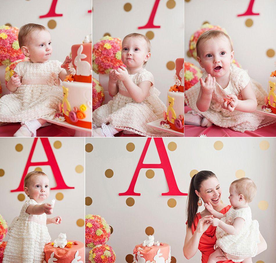 First Birthday Polka Dot Decals - Photos via Jasalyn Thorne Photography
