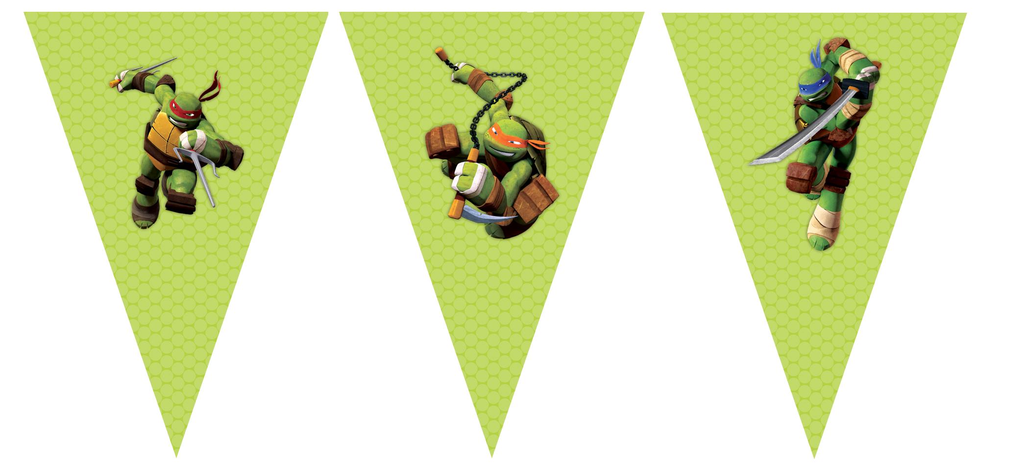 Bunting Printable Teenage Mutant Ninja Turtle Party