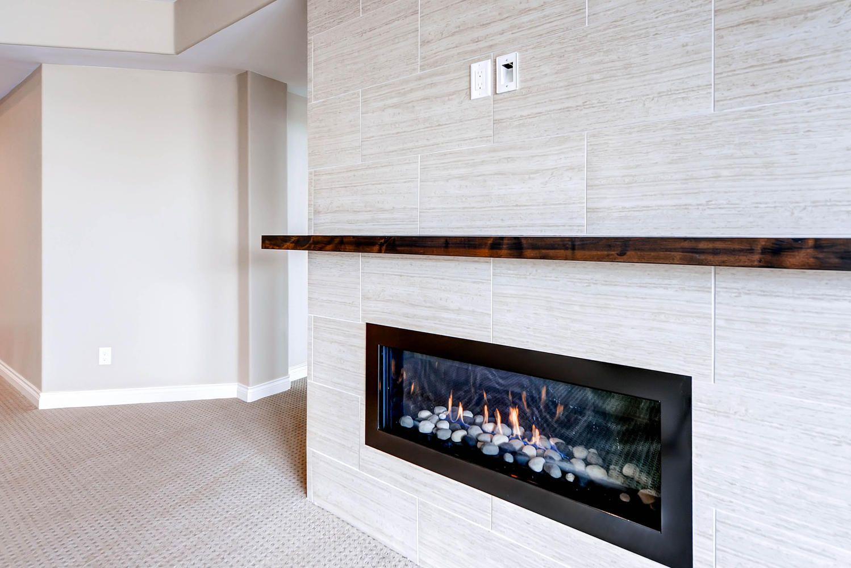 Custom Gas Fireplace In Basement Custom Home Designs Custom