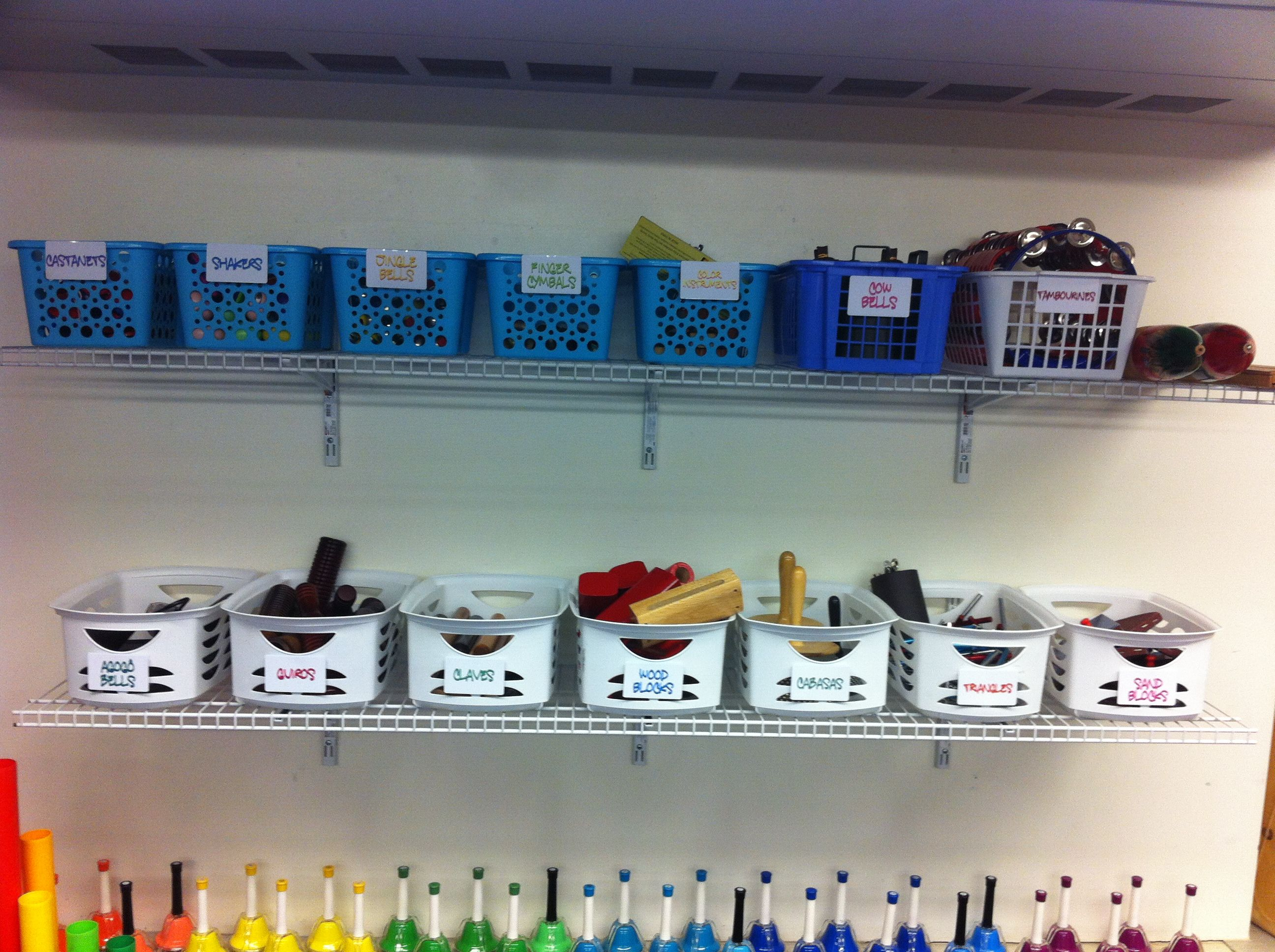 Ideas In Classroom ~ Classroom instruments class set up storage beth s notes
